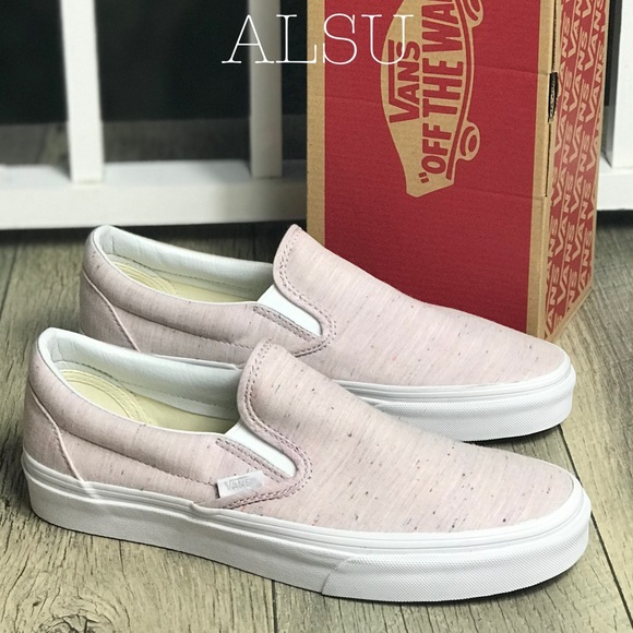 52e313eb51 VANS Classic Slip-On Speckle Jersey Pink Try WMNS